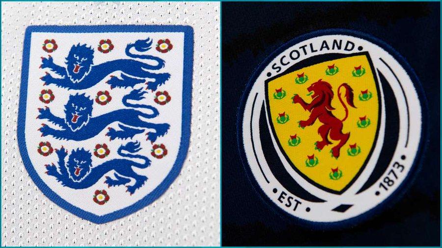 Спорный эпизод в конце матча между сборными Англии и Шотландии на Евро-2020