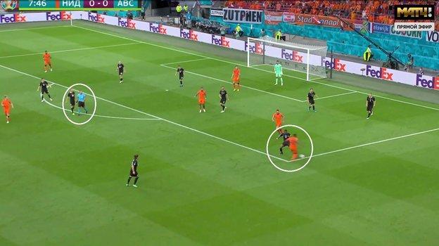 Арбитр ошибся в матче между сборными Нидерландов и Австрии на Евро-2020