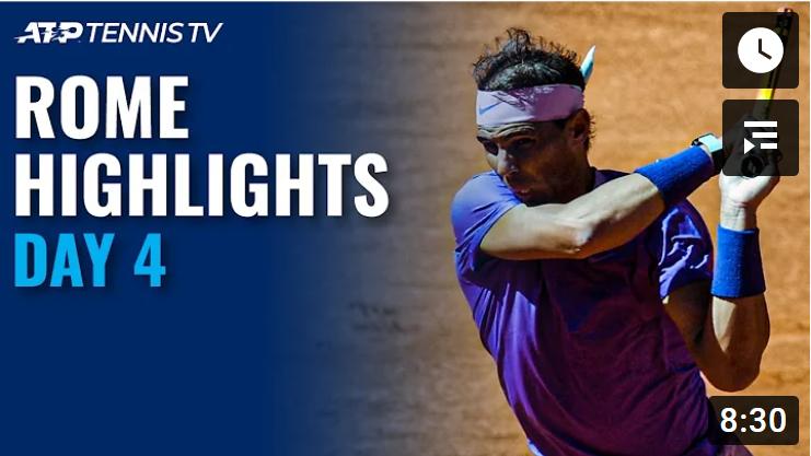 Теннис. АТР Рим 2021. Обзор четвертого игрового дня