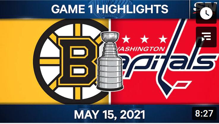 Хоккей. НХЛ, плей-офф Кубка Стэнли. Бостон - Вашингтон. 1й матч, обзор лучших моментов