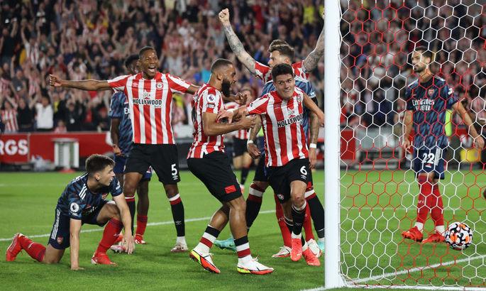 Лондонский «Арсенал» сенсационно проиграл дебютанту АПЛ «Брентфорду»