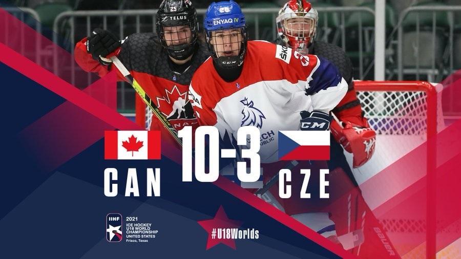 Канадцы прошли в полуфинал ЮЧМ-2021, обыграв чехов со счетом 3:10