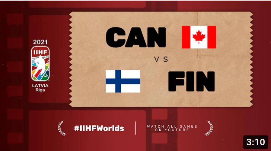 Хоккей. ЧМ в Латвии 2021. Канада - Финляндия. Highlights
