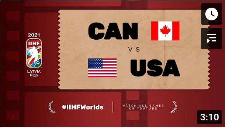 Хоккей. ЧМ в Латвии 2021. Канада - США. Highlights