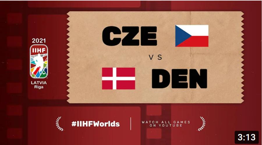 Хоккей. ЧМ в Латвии 2021. Чехия - Дания. Highlights