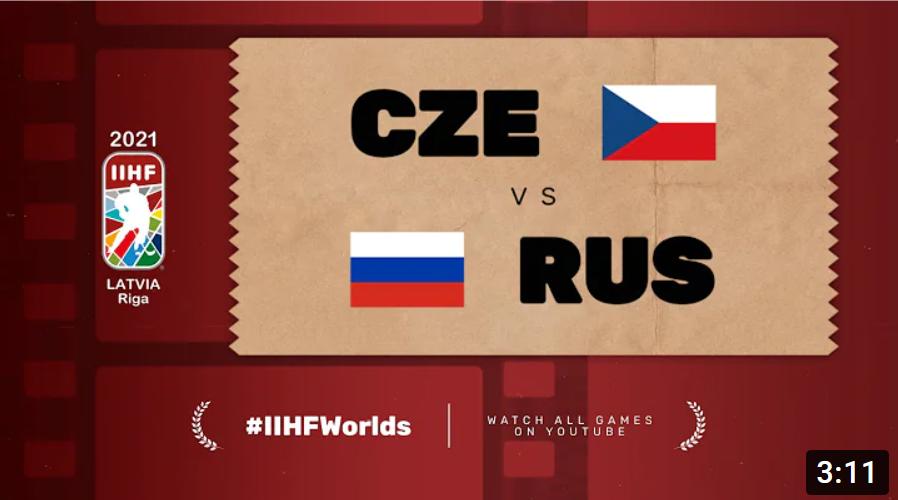 Хоккей. ЧМ в Латвии 2021. Россия - Чехия. Highlights