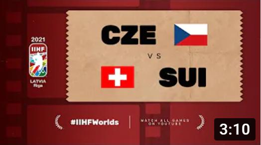 Хоккей. ЧМ в Латвии 2021. Чехия - Швейцария. Highlights