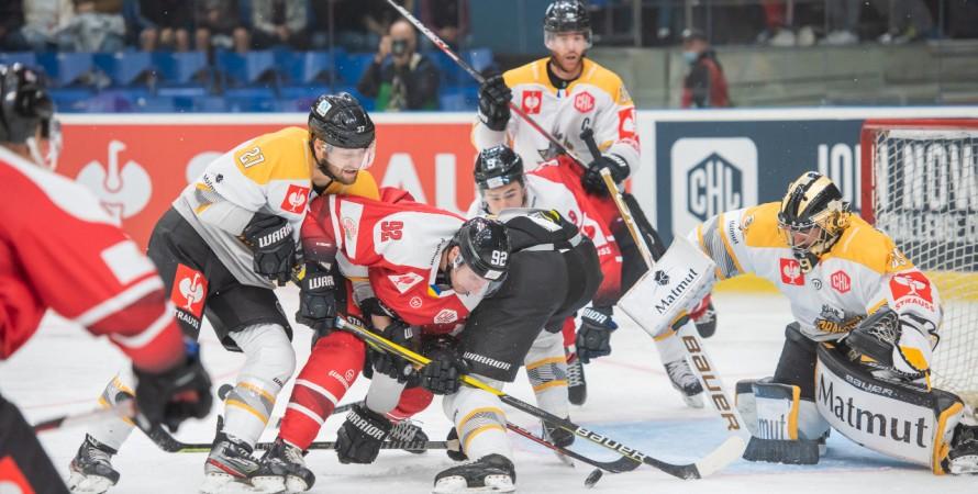 Форвард  «Руана» не смог помочь своей команде в игре против «Донбасса», в групповом этапе хоккейной Лиги чемпионов