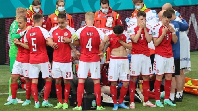 Врачи прокомментировали ситуацию, произошедшую с Эриксеном во время матча Дания - Финляндия