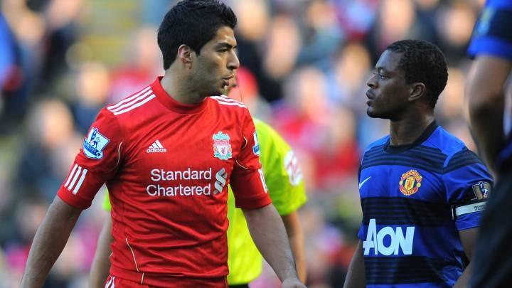 Патрис Эвра вспомнил о жестких конфликтах с Луисом Суаресом в преддверии матча «Манчестер Юнайтед» - «Ливерпуль»
