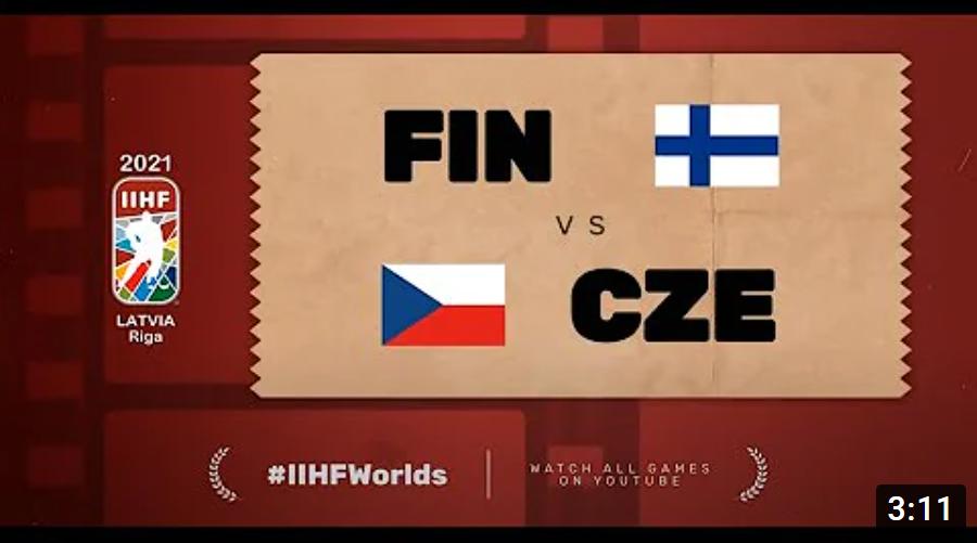 Хоккей. ЧМ в Латвии 2021. Финляндия - Чехия. Highlights
