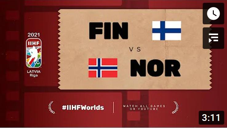 Хоккей. ЧМ в Латвии 2021. Финляндия - Норвегия. Highlights