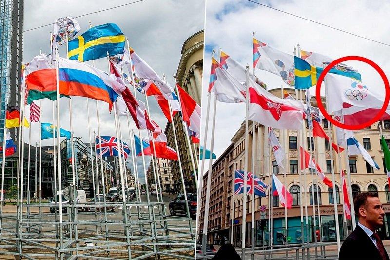 Скандал с заменой российского флага в столице Латвии на Чемпионате мира по хоккею