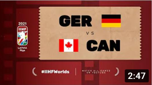 Хоккей. ЧМ в Латвии 2021. Германия - Канада. Highlights