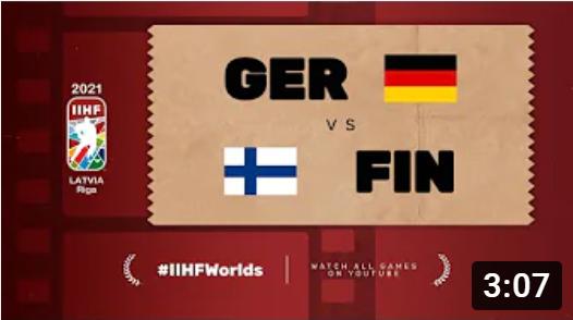 Хоккей. ЧМ в Латвии 2021. Германия - Финляндия. Highlights