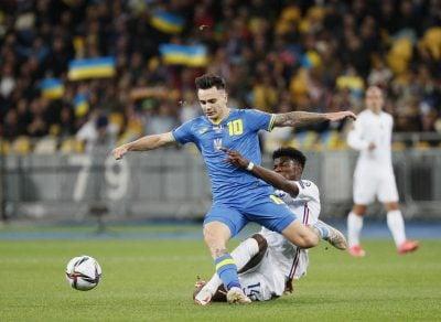 В рамках квалификации на ЧМ-2022 Украина сыграла вничью с действующим чемпионом – сборной Франции