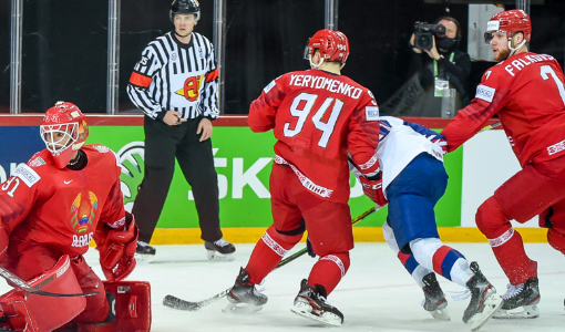 Сборная Беларуси проиграла сборной Дании на ЧМ-2021 по хоккею