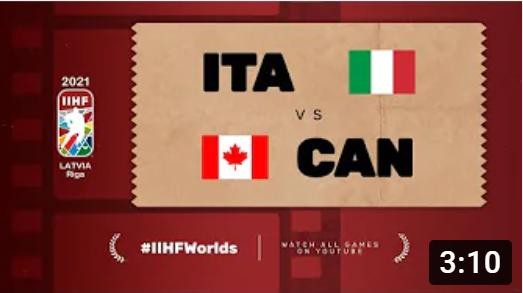 Хоккей. ЧМ в Латвии 2021. Италия - Канада. Highlights