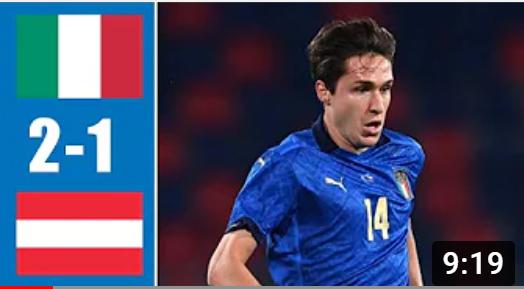 EВРО-2020. Италия - Австрия. Обзор лучших моментов матча