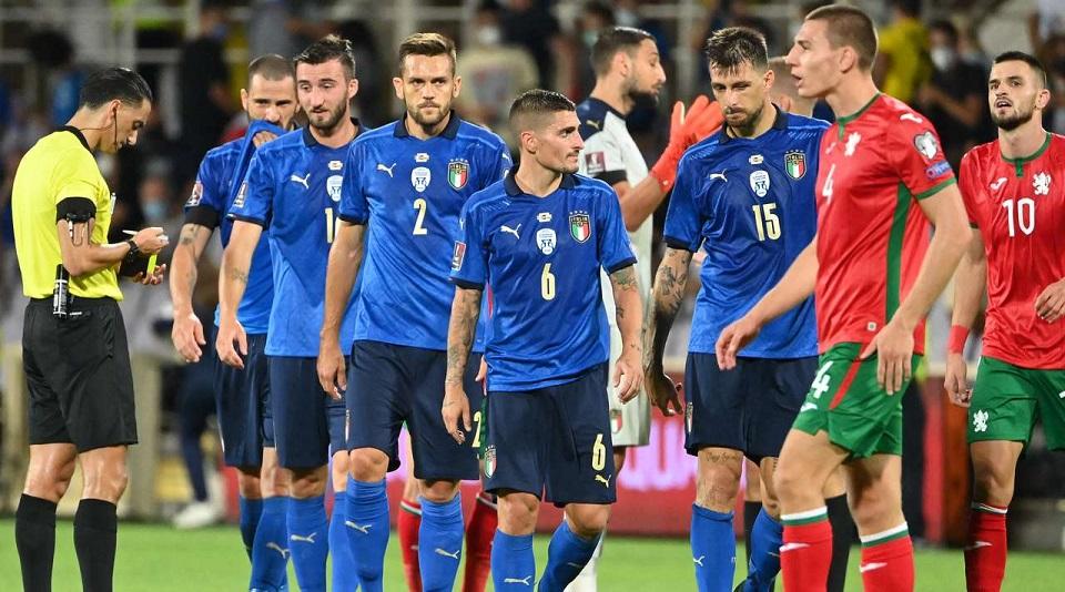 В квалификации на ЧМ-2022 Италия сенсационно сыграла вничью с Болгарией в домашнем матче