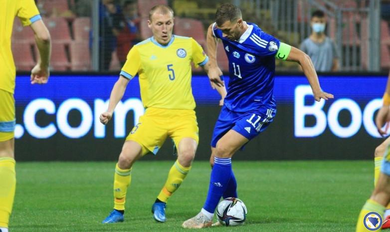 В рамках отбора на ЧМ-2022 Казахстан сумел удержать ничью в матче против Боснии и Герцеговины