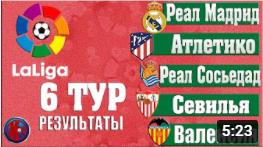 Футбол. Обзор матчей 6 тура испанской Ла Лиги
