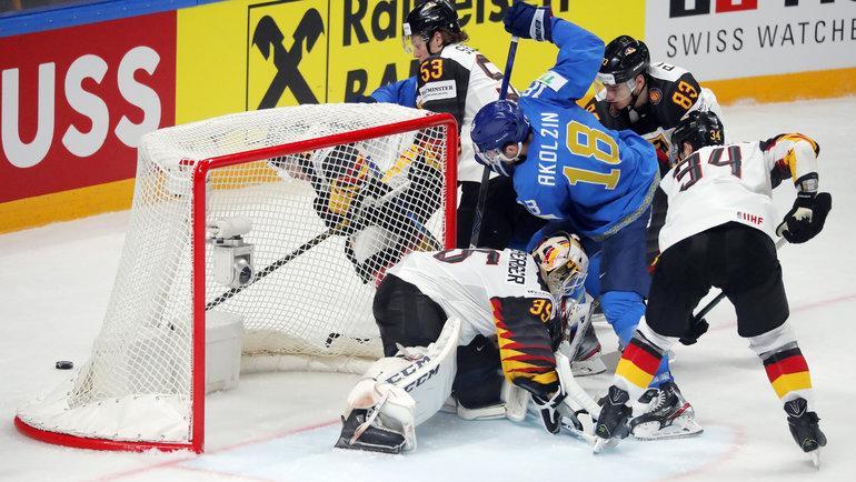 Сборная Казахстана одержала победу над сборной Германии на ЧМ-2021 по хоккею