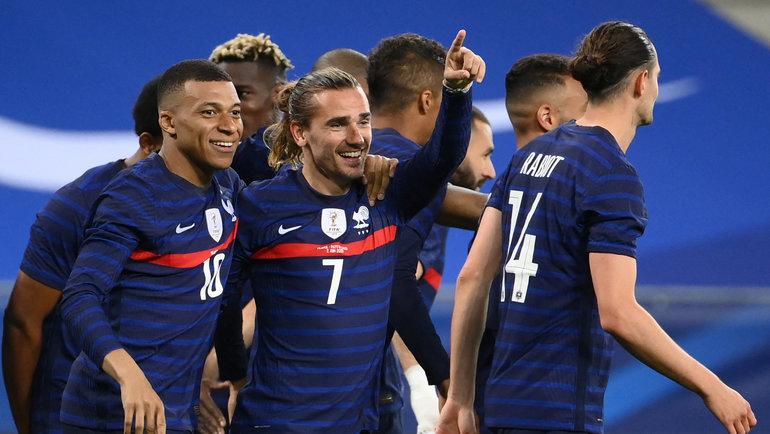 Сборная Франции разгромила сборную Уэльс в товарищеском матче