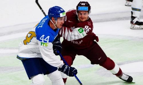 Сборная Казахстана обыграла сборную Латвии на домашнем чемпионате мира