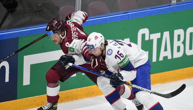 Сборная Норвегии выиграла у сборной Латвии в серии буллитов на ЧМ-2021 по хоккею