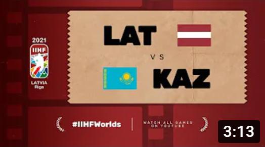 Хоккей. ЧМ в Латвии 2021. Латвия - Казахстан. Highlights