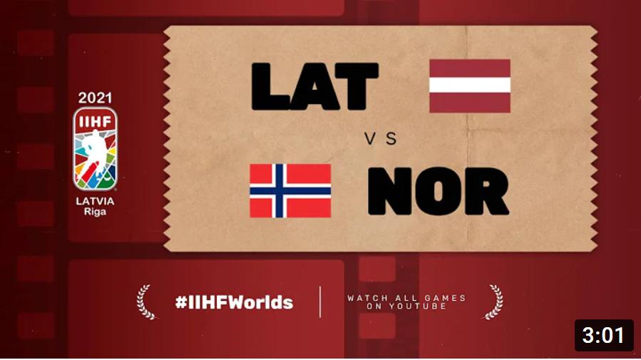 Хоккей. ЧМ в Латвии 2021. Латвия - Норвегия. Highlights