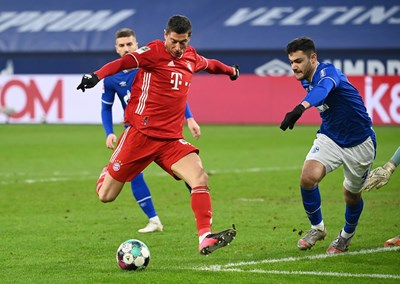 Форвард ФК «Бавария» Левандовски лидирует в борьбе за «Золотую бутсу» в текущем сезоне