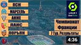 Футбол. Обзор матчей 7 тура французской Лиги 1