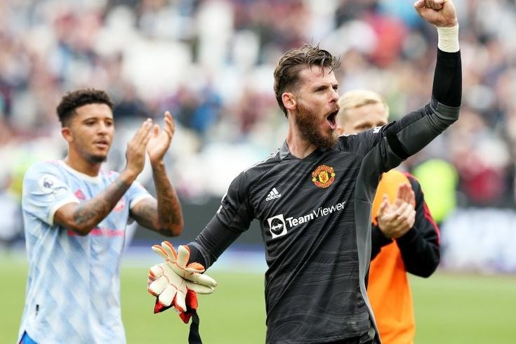 """Вратарь """"Манчестер Юнайтед"""" прервал черную полосу пропущенных пенальти в матче пятого тура АПЛ с """"Вест Хэмом"""""""