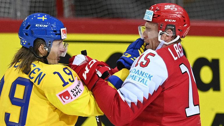 Сборная Дании сенсационно обыграла сборную Швеции на чемпионате мира по хоккею