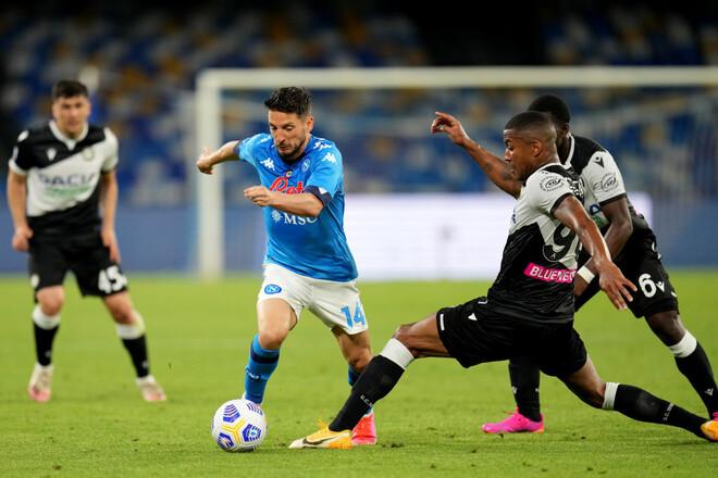 Наполи побеждает Удинезе и входит в четверку лучших команд в Серии А