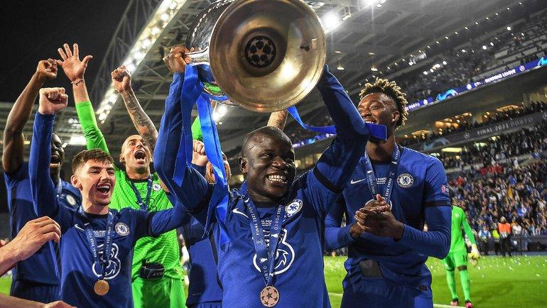 Игрок Челси Н.Канте получил награду «Лучший игрок матча» в финале Лиги Чемпионов по версии УЕФА