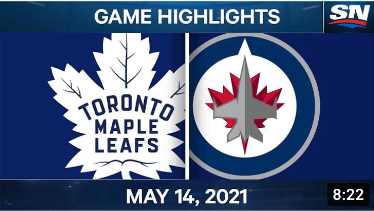 Хоккей. НХЛ. Торонто Мейпл Ливз - Виннипег Джетс. Обзор матча за 14.05.2021