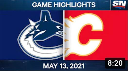 Обзор матча НХЛ за 13.05.2021. Ванкувер Кэнакс - Калгари Флеймз