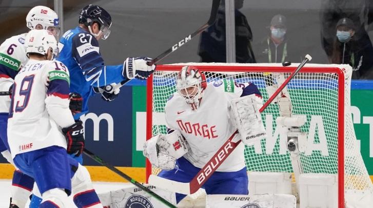 Сборная Финляндии переиграла сборную Норвегии на ЧМ-2021 по хоккею