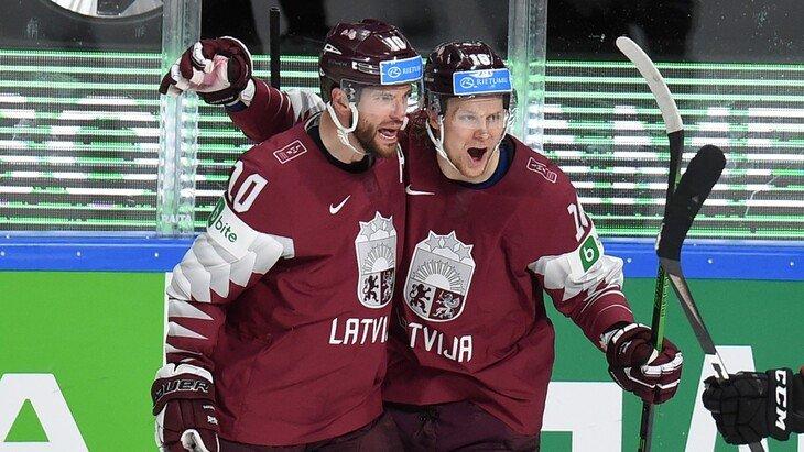 Очередная победа сборной Латвии и первые очки для сборной Чехии на ЧМ-2021 по хоккею