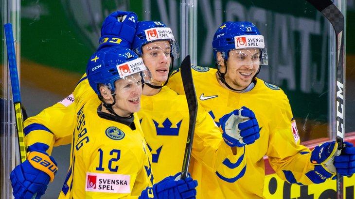 Шведы обыграли сборную Великобритании на ЧМ-2021 по хоккею