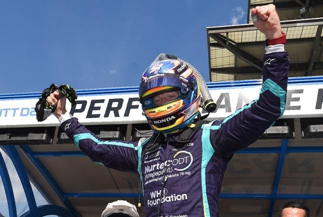 Гонщик Ромен Грожан забирает свой первый поул в «IndyCar»