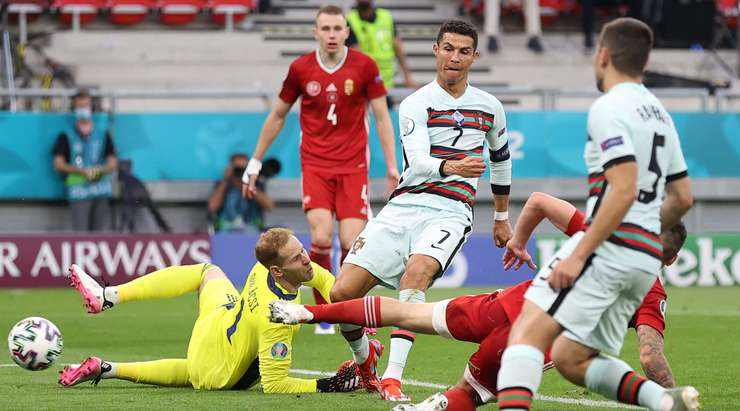 Роналду в матче между сборными Венгрии и Португалии на Евро-2020 установил 3 рекорда