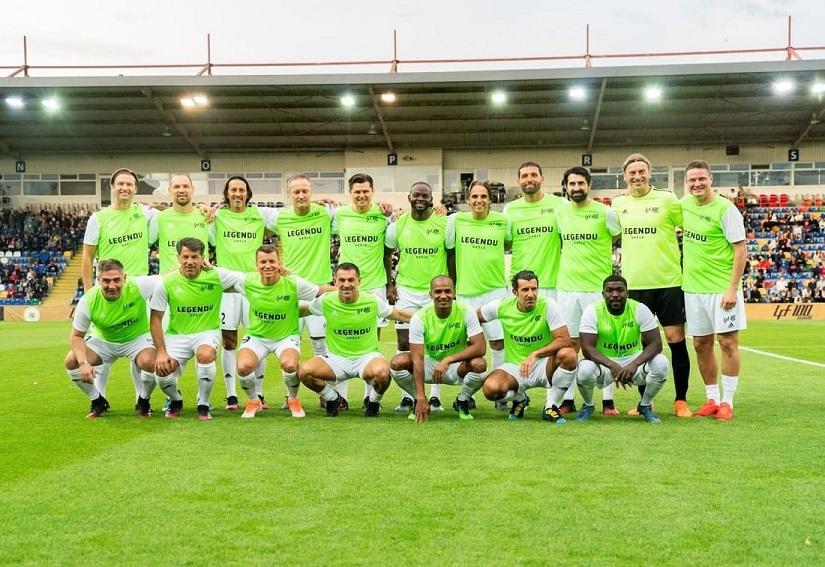 Руслан Ротань сыграл в выставочном матче, приуроченном к столетию Латвийской федерации футбола