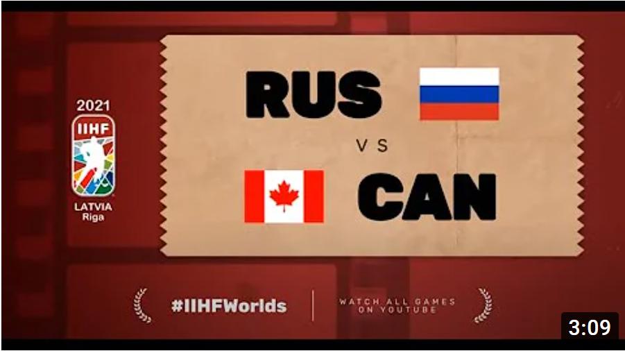 Хоккей. ЧМ в Латвии 2021. Россия - Канада. Highlights