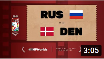 Хоккей. ЧМ в Латвии 2021. Россия - Дания. Highlights