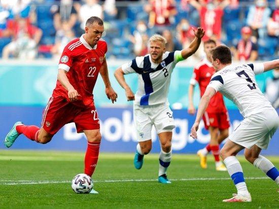 """Сборная России """"вымучила"""" минимальную победу над Финляндией на Евро-2020"""