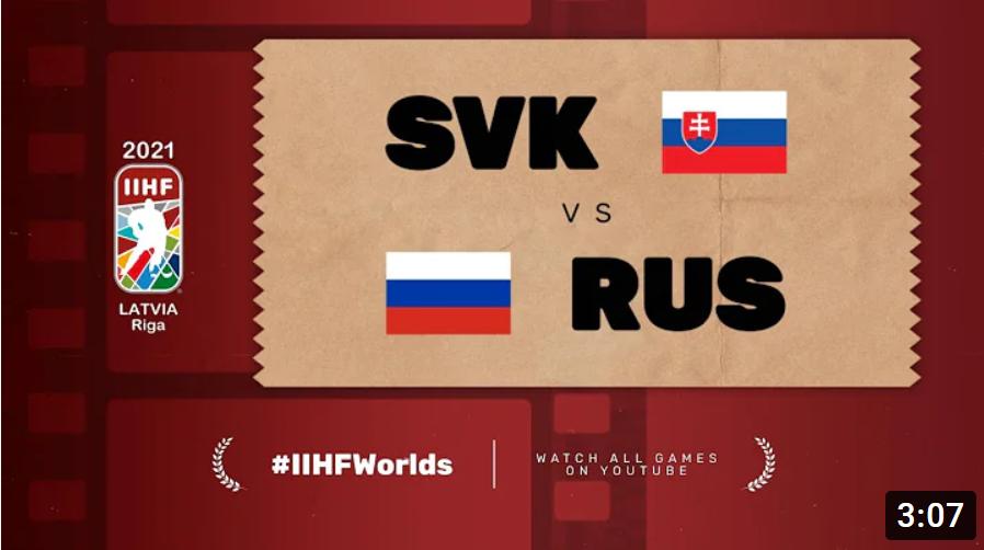 Хоккей. ЧМ в Латвии 2021. Россия - Словакия. Highlights